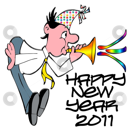 Happy New Year 2011 stock photo, Happy New Year 2011 stock illustration by CHERYL LAFOND