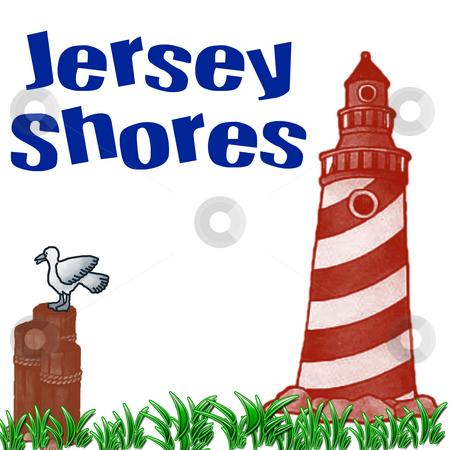 Stock Illustration - jersey shores stock photo, Stock Illustration - jersey shores by CHERYL LAFOND