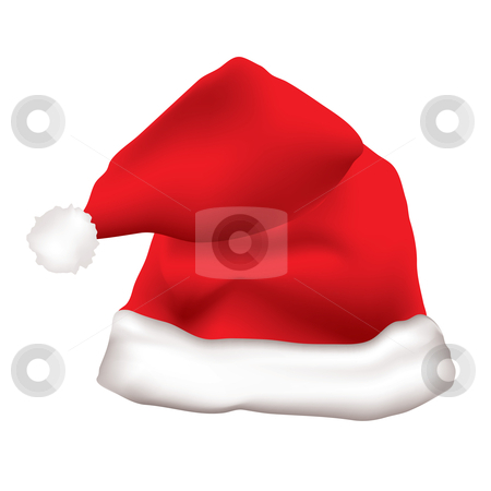 Red father christmas hat stock vector clipart, Red father christmas hat with white fur trim by Michael Travers