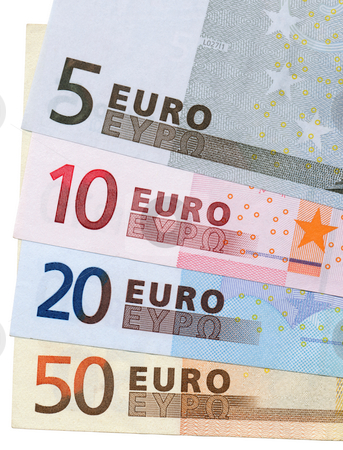Close up colorful Euros cash notes. stock photo, Close up colorful Euros cash notes. by Stephen Rees