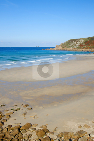 Gwynver beach in Cornwall England UK. stock photo, Gwynver beach in Cornwall England UK. by Stephen Rees
