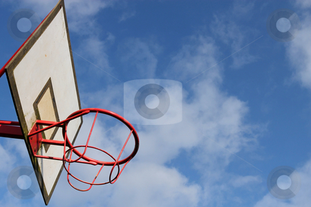 Outdoor park basketball hoop. stock photo, Outdoor park basketball hoop. by Stephen Rees