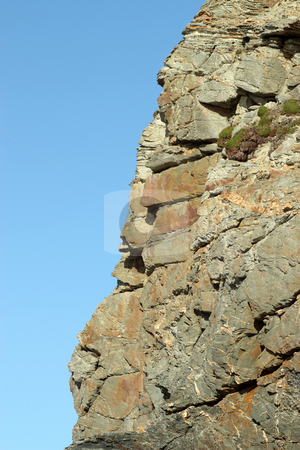 Jagged granite rock coast cliff edge close up. stock photo, Jagged granite rock coast cliff edge close up. by Stephen Rees