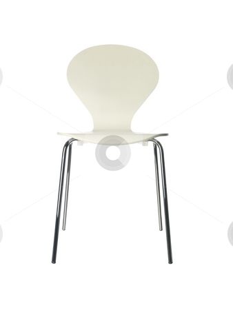 Chair against white background stock photo, Chair against white background by Anne-Louise Quarfoth