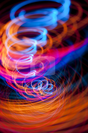 Light tornado stock photo, Colourful light effect that looks like a tornado or whirlwind by Stephen Gibson