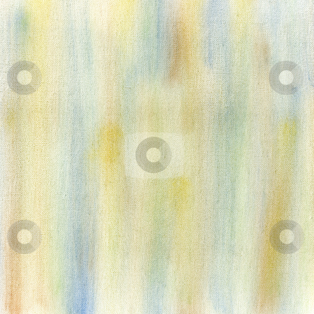 Pastel abstract on canvas stock photo, Blue, yellow and green crayon pastel smudges on white artist canvas, self made by photographer by Marek Uliasz