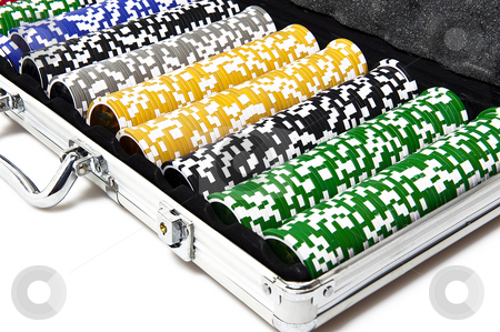 Gaming case with fishes stock photo, Metal briefcase with fisches for the game by @ Photofollies by Carla Zagni