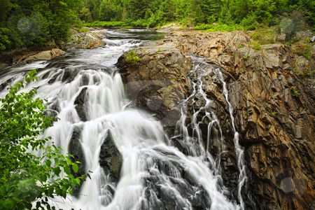 Waterfall in Northern Ontario, Canada stock photo, Waterfall at Chutes provincial park, Ontario, Canada by Elena Elisseeva