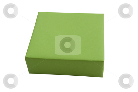 Green gift box stock photo, Green gift box by Udomsak Insome