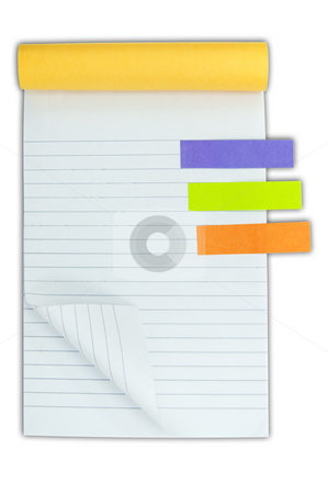 Blank notebook and post it stock photo, Blank notebook and post it by Udomsak Insome