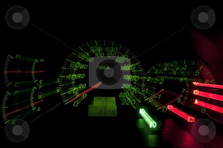 Hi-speed meter stock photo, Hi-speed meter by Udomsak Insome