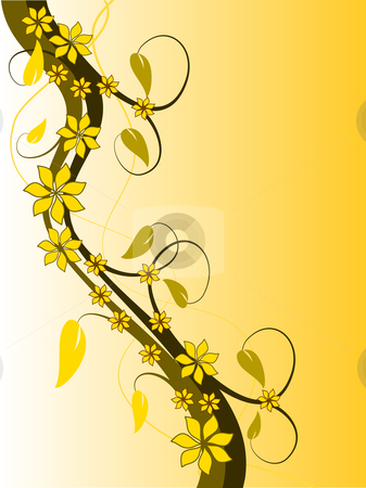 vector clipart, An abstract vector illustration with a floral design ...