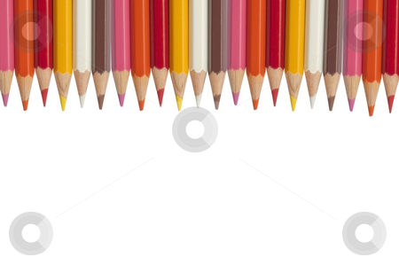 Color pencil as white isolate background stock photo, Color pencil as white isolate background by Udomsak Insome