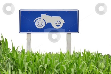 Bike logo and grass as white isolate background