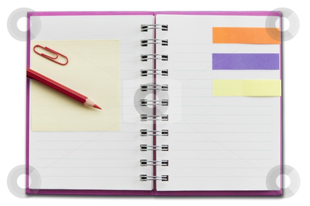 Mini blank notebook stock photo, Mini blank notebook as white isolate background by Udomsak Insome