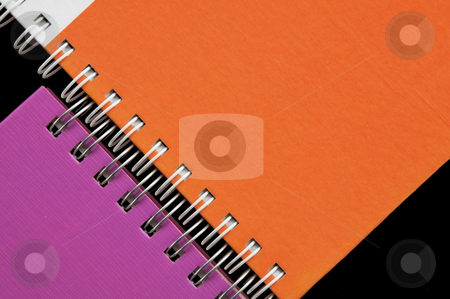 Colorful notebook stock photo, Colorful notebook as black background by Udomsak Insome