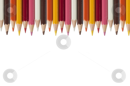 Color crayon as white isolate background stock photo, Colorful crayon as white isolate background by Udomsak Insome