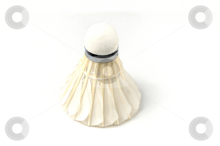Shuttlecock stock photo, Shuttlecock isolated on a white back ground by Arvind Balaraman
