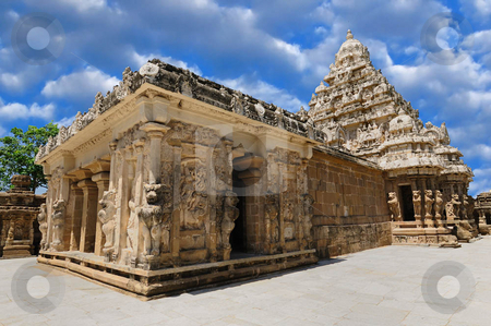 Kailasanathar Temple stock photo, An okld south Indian temple built by the Pallava Kings by Arvind Balaraman