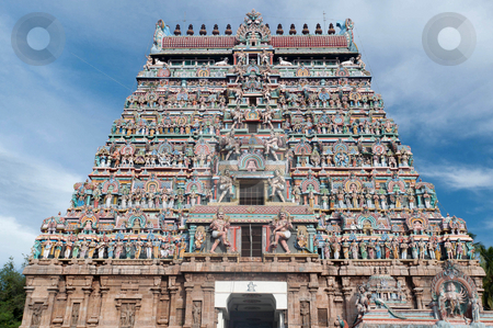 Chidambaram Nataraja Temple stock photo, Architecture at finest in the Chidambaram temple South India by Arvind Balaraman