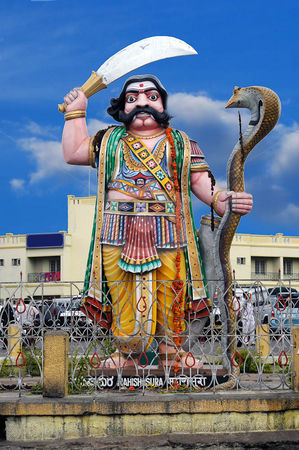 Mahisasura stock photo, An Indian diety used as a guard for the villages by Arvind Balaraman
