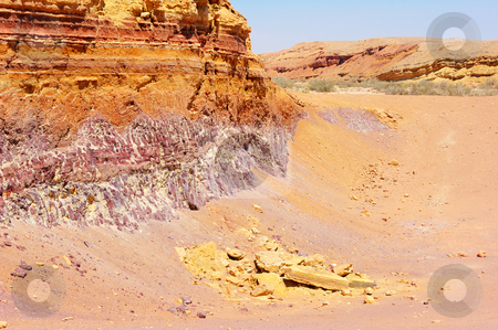 Multicolored stones of Makhtesh Ramon