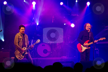 Portuguese rock band . stock photo, Portuguese rock band in concert. by Inacio Pires