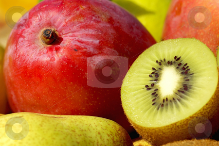 Mango and kiwi. stock photo, Mango and kiwi fruits. by Inacio Pires
