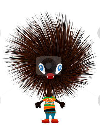 Hedgehog punk stock photo, Hedgehog punk, isolated object over white background by Richard Laschon