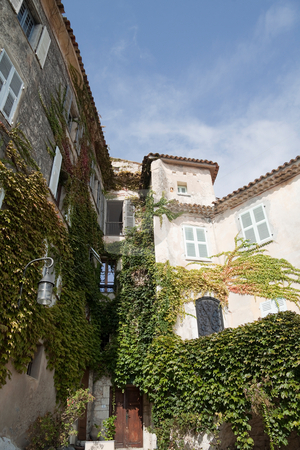 Eze, France Apartment stock photo, Old house and walls in the village of Eze, France by Kevin Tietz