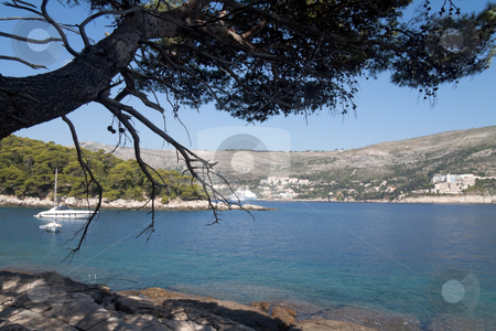 Cost of Croatia stock photo, The beautiful coastline of Dubrovnik, Croatia by Kevin Tietz