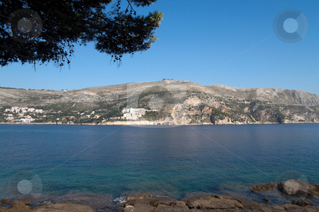 Croatia Coastline stock photo, The beautiful coastline of Dubrovnik, Croatia by Kevin Tietz