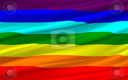 Rainbow flag stock photo, Computer generated rainbow flag waving by Dejan Lazarevic