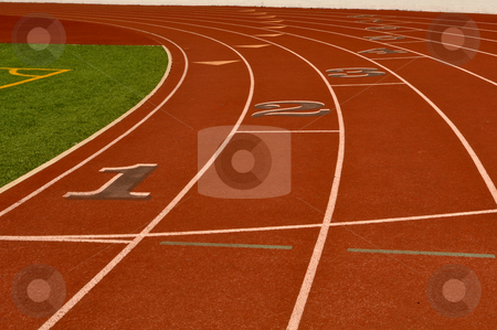Running Track stock photo, Running Track Laps by Brandon Bourdages