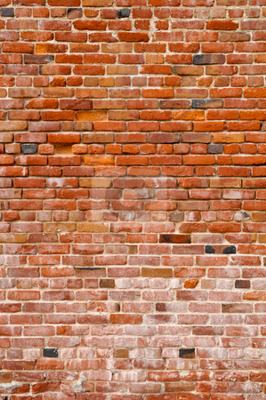 Red Grunge Brick Background stock photo, Brick Background by Brandon Bourdages