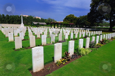 Cemetry stock photo, A World War II Cemetry in Chennai India by Arvind Balaraman