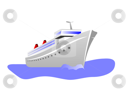 cruise boat clip art. of a cruise ship isolated
