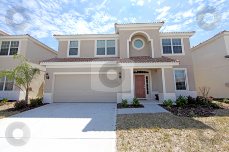 Florida Home stock photo, A Front Exterior of a Florida Home by Lucy Clark