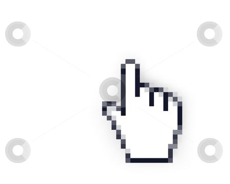 Hand cursor  stock photo, Hand cursor isolated on white background by Zelfit