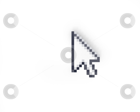Cursor top view  stock photo, Cursor top view isolated on white background by Zelfit
