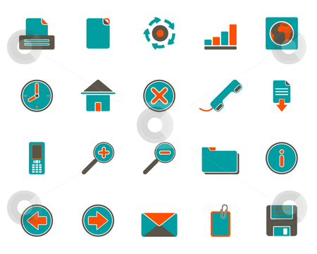 Web icons stock photo, Web icons by Robert Biedermann