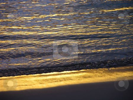 Bermuda Sunset stock photo, Sunset makes a lovely glow on a beach in Bermuda. by Mary Lane