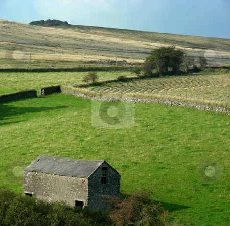 Dartmoor stock photo, The wild rural landscape of Dartmoor, England. by Mary Lane