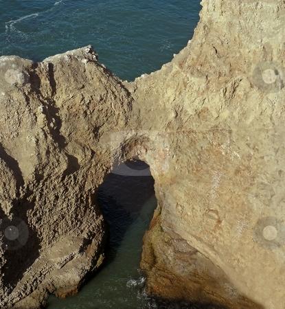 Ocean Bridge stock photo, A natural bridge off the northern California coast. by Mary Lane