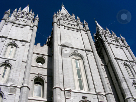 Mormon Temple stock photo, A panoramic view of the Mormon Temple in Salt Lake City, Utah. by Mary Lane