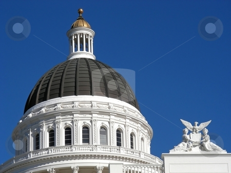 California Dome stock photo, Classic dome on the California State House, Sacramento, California. by Mary Lane