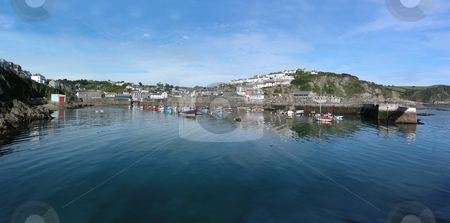 Mevagissey stock photo, Looking inwards to the pretty port village of Mevagissey, Cornwall, England. by Mary Lane