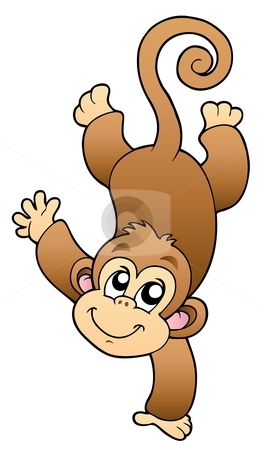 Funny cute monkey Vector Illustration - Download monkey Royalty Free ...