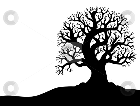 Silhouette of tree without leaf 1 stock vector clipart, Silhouette of tree without leaf 1 - vector illustration. by Klara Viskova