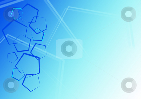 Blue pentagon background stock photo,  by Pavel Vorobyov